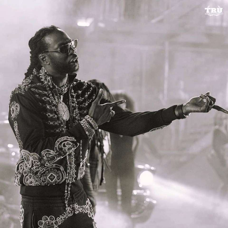 2 Chainz wearing Moschino by Jeremy Scott