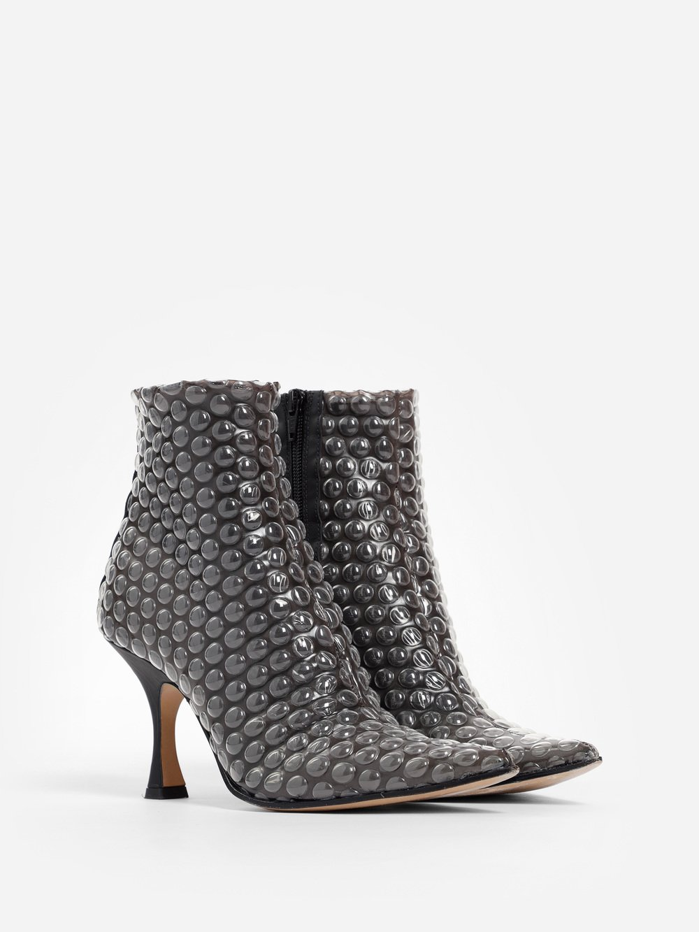 BUBBLE WRAP PRINTED ANKLE BOOTS