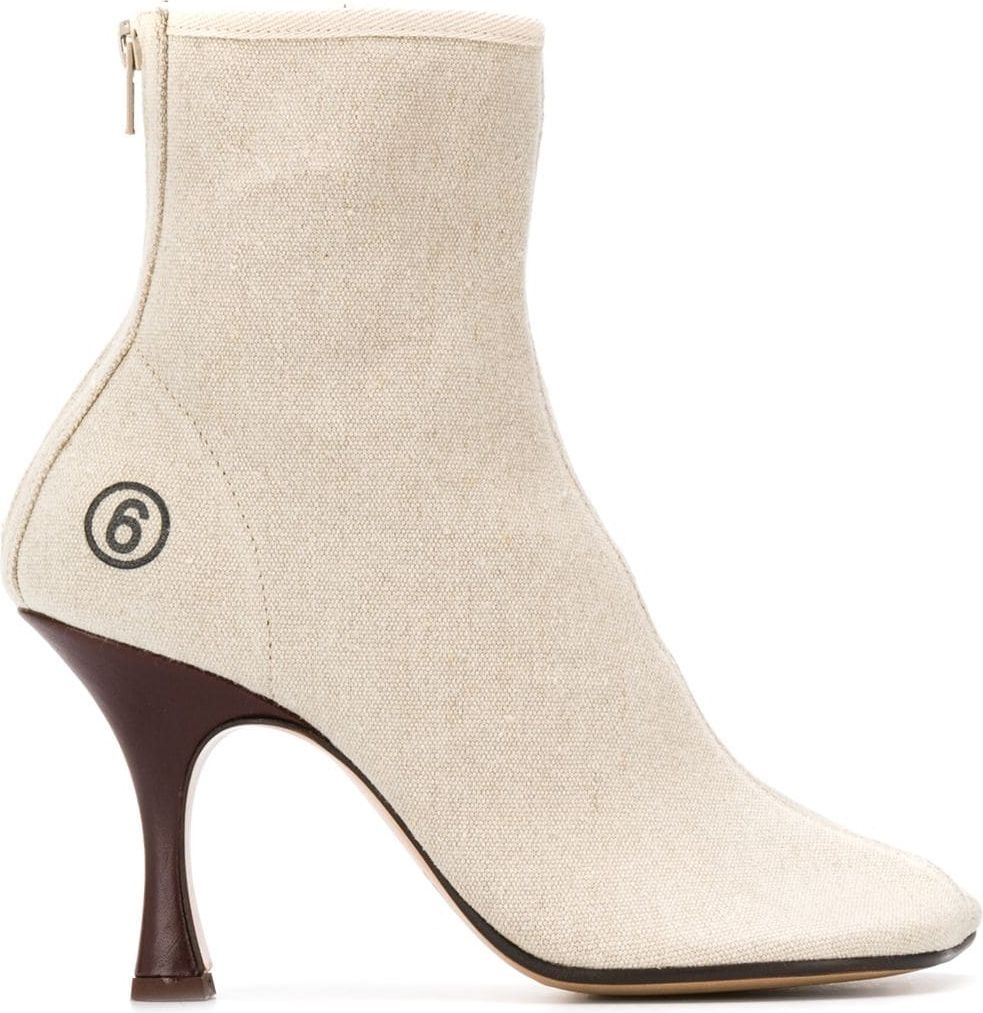 LINEN ANKLE BOOTS