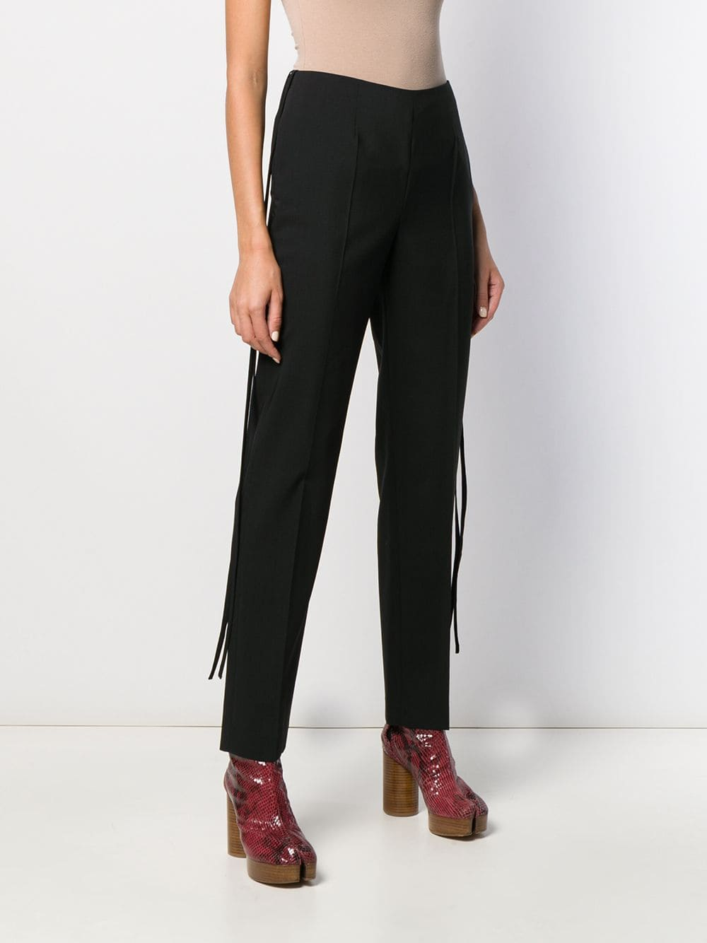 side lace tailored trousers
