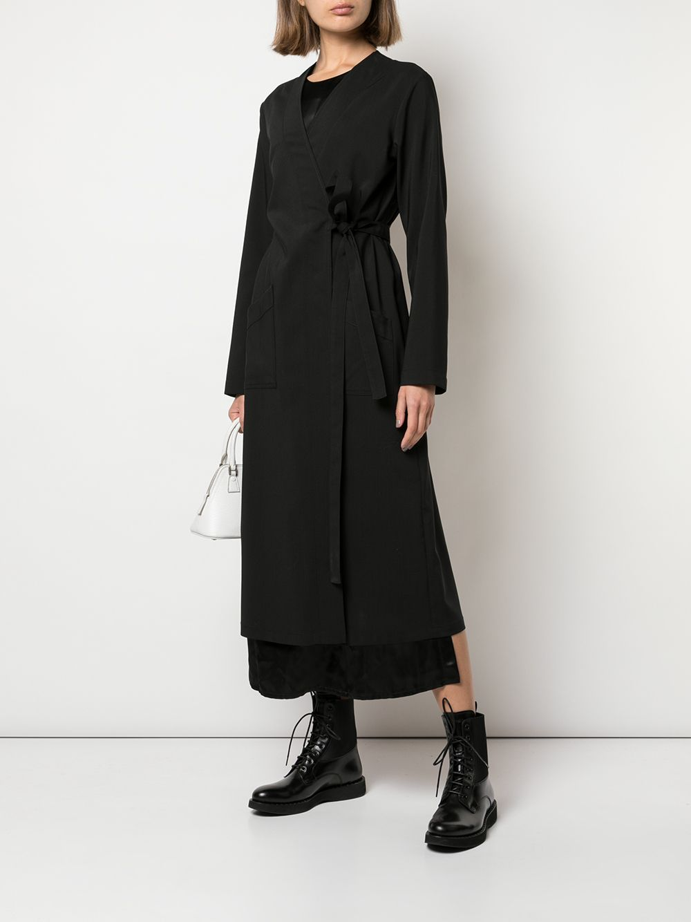 all-in-one layered wrap design dress