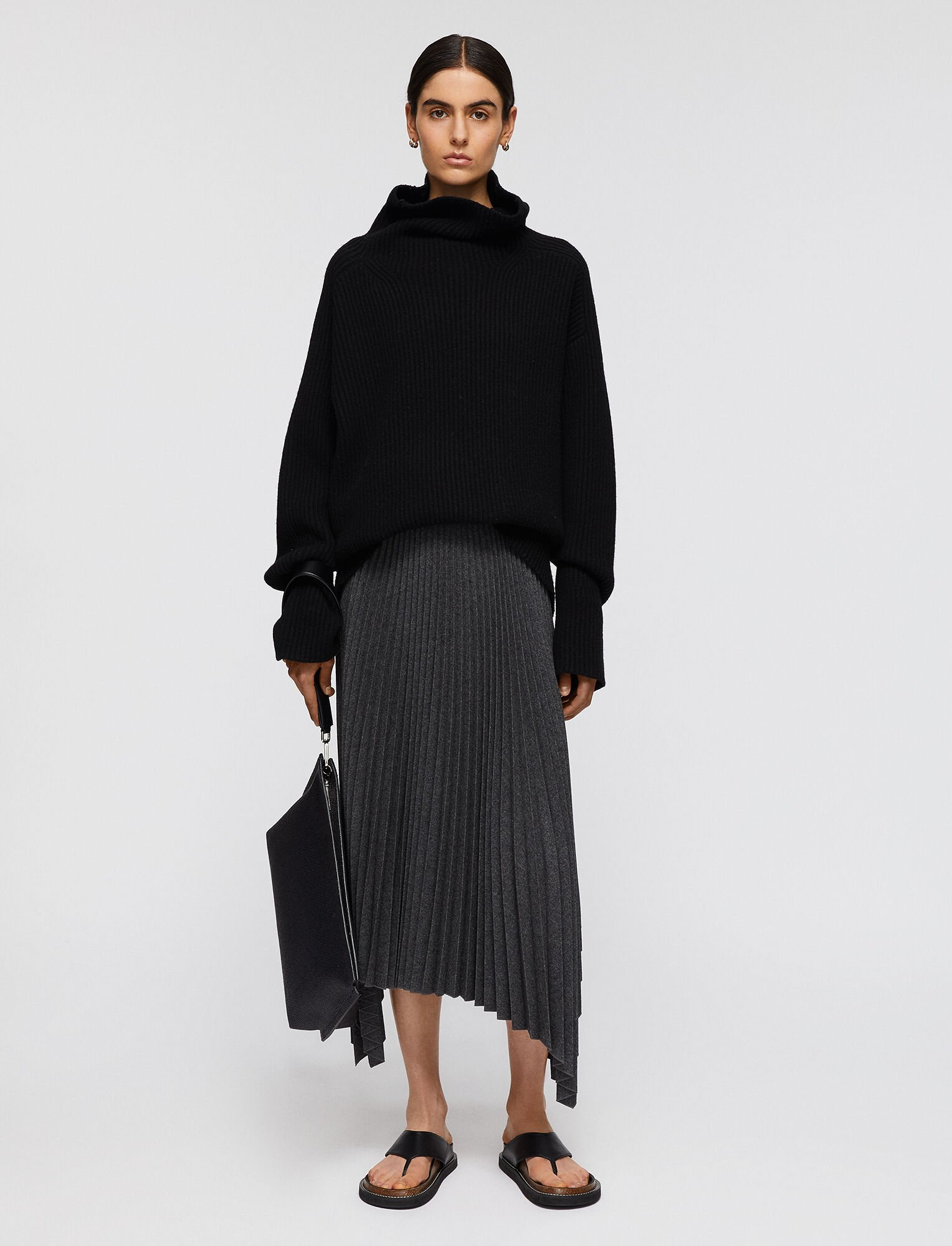 Pleated Flannel Ade Skirt by JOSEPH FASHION