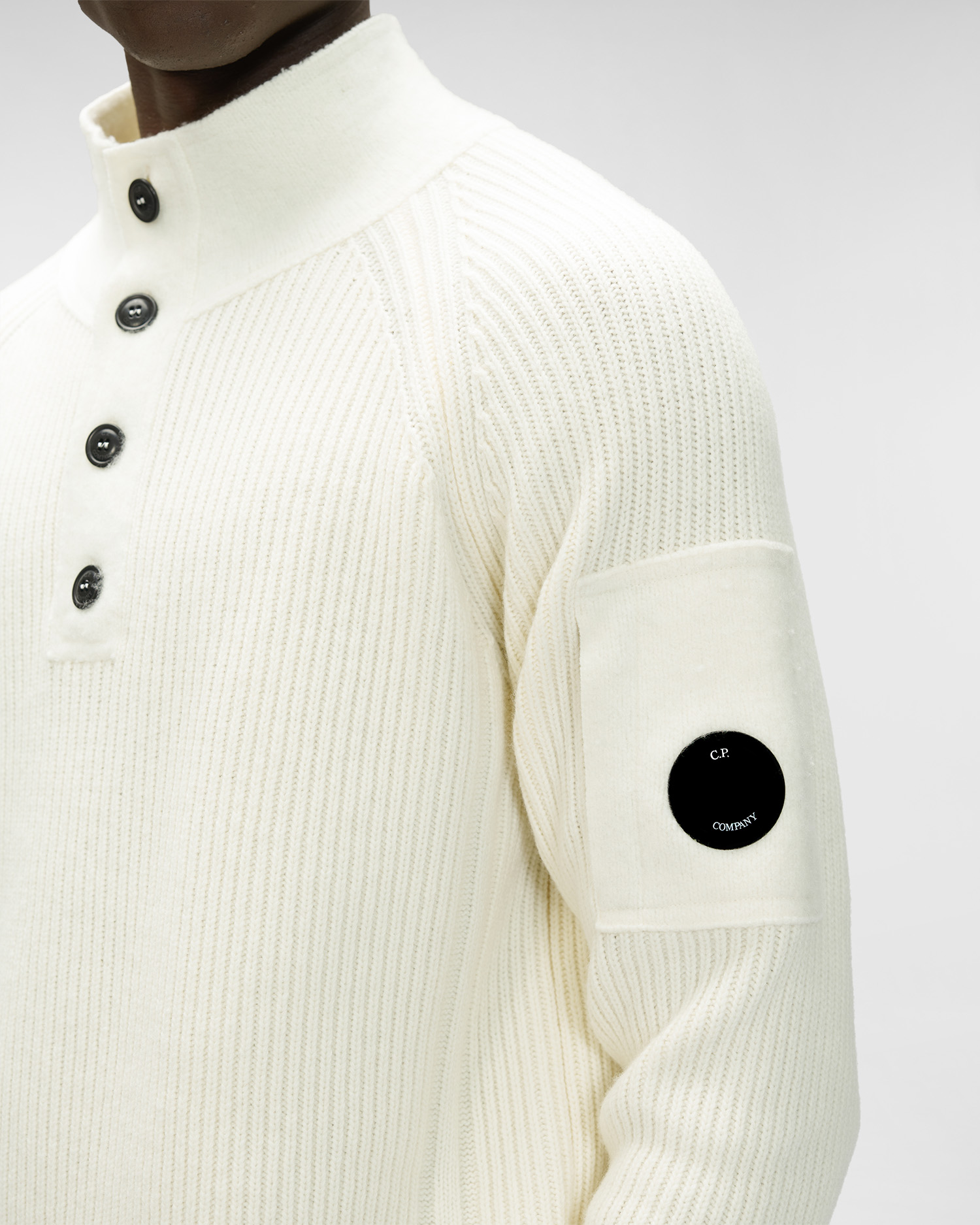 Lambswool Stand Collar Knit C.P. COMPANY