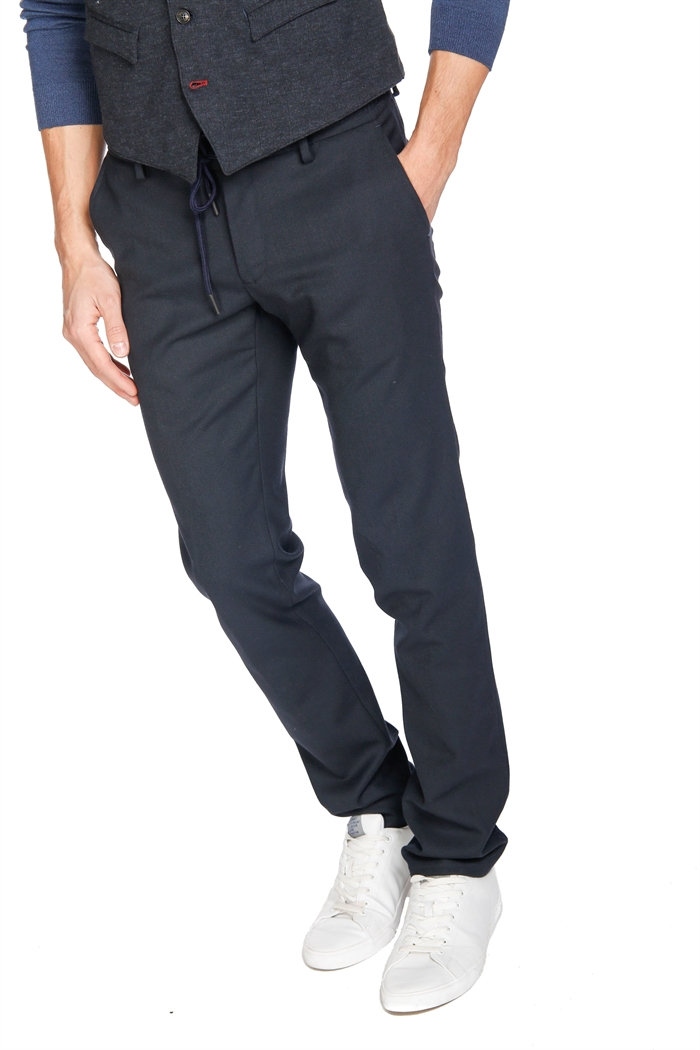 Mason's Man Chino Pants Model Milano Jogger, washable wool flannel