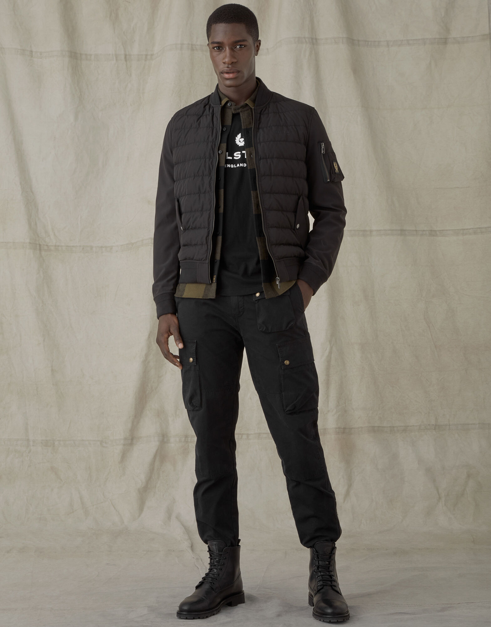 MANTLE JACKET In Black Water-Repellent Polyester