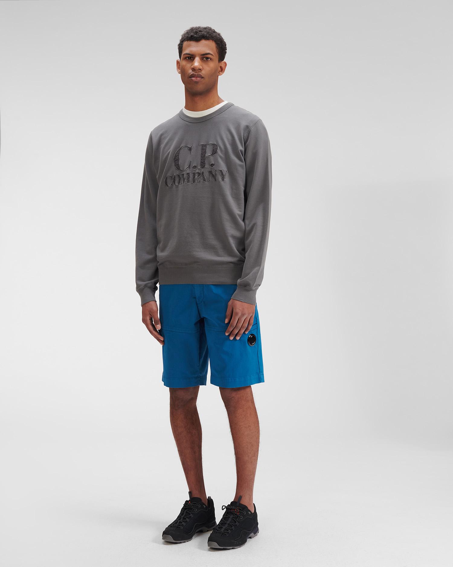 Light Fleece Mixed Garment Dyed Logo Sweatshirt