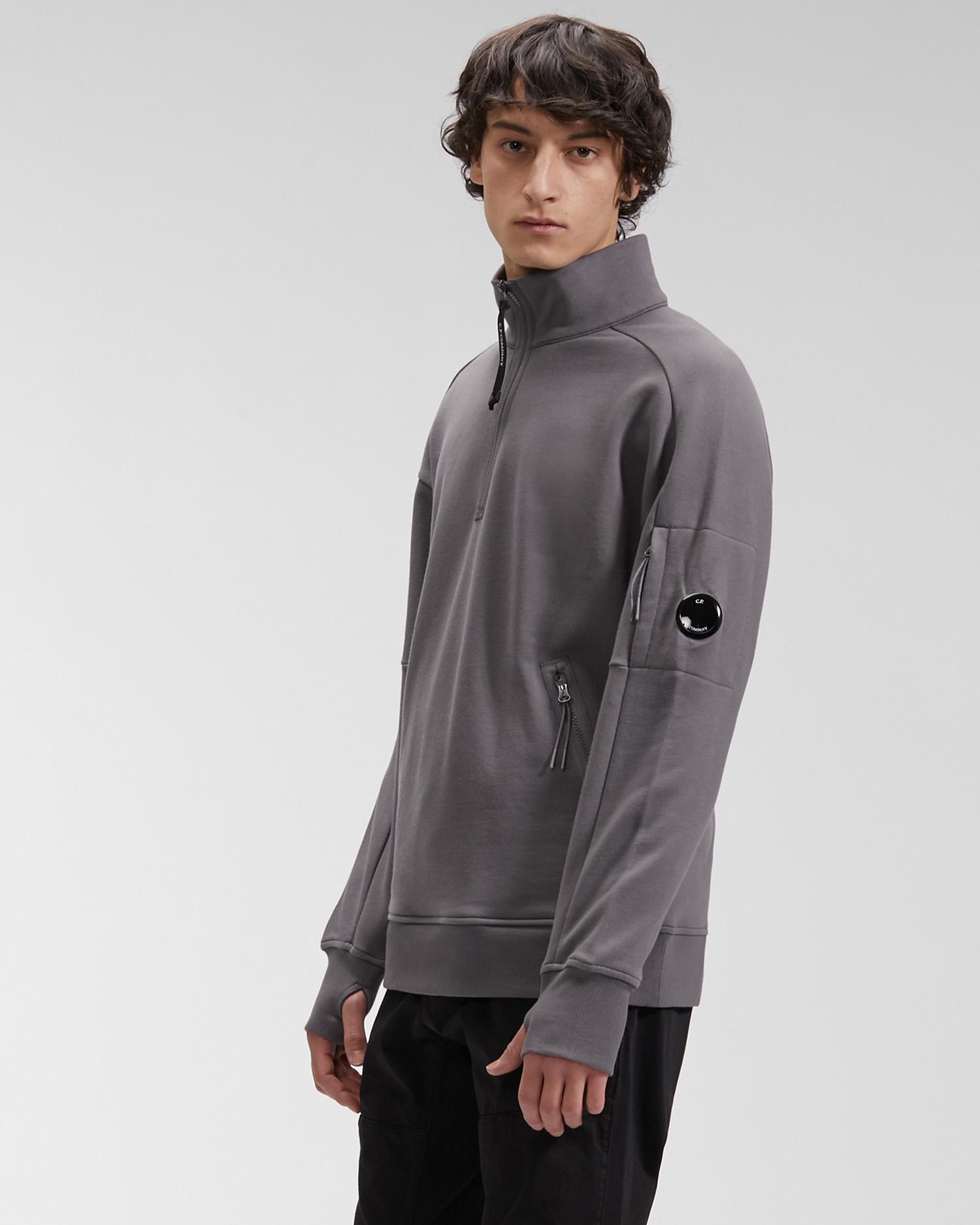 Diagonal Raised Fleece Quarter Zip Sweatshirt