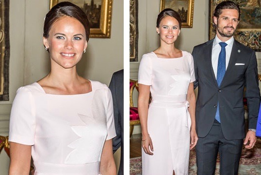 sweden's princess sofia was wearing a paule ka dress at the occasion of the indian president official visit in stockholm 2016