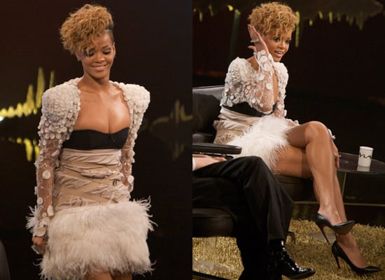 Rihanna appeared on Norwegian TV.  Paule Ka dress