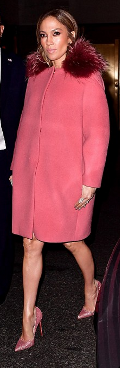 jennifer lopez was spotted wearing paule ka coat
