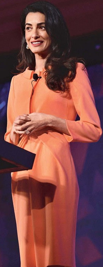 amal clooney was seen wearing paule ka dress