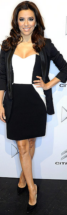 eva longoria was seen wearing paule ka dress